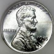 1943 Zinc-Coated Steel Penny